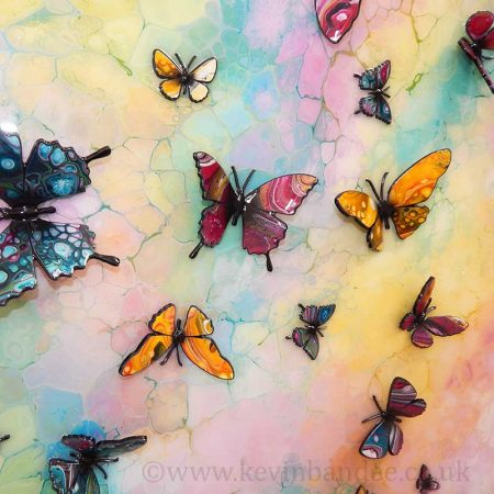 3d multicolour butterflies 2