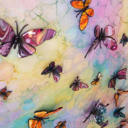 3d multicolour butterflies
