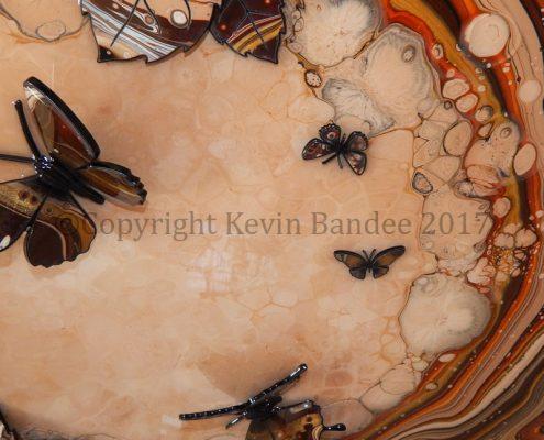 Brown Organic Butterfly Art Detail 1