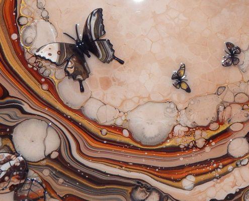 Brown Organic Butterfly Art Detail 3