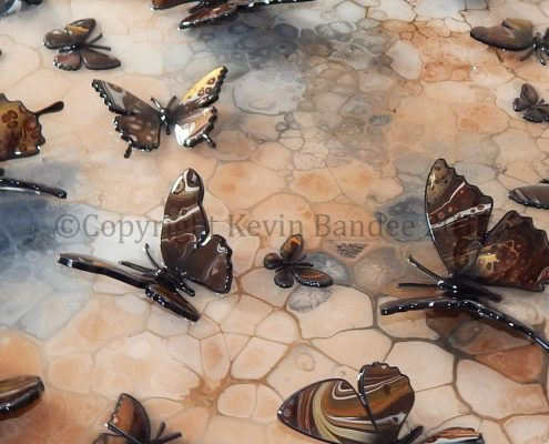Brown butterfly art