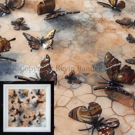 Brown butterfly art gall