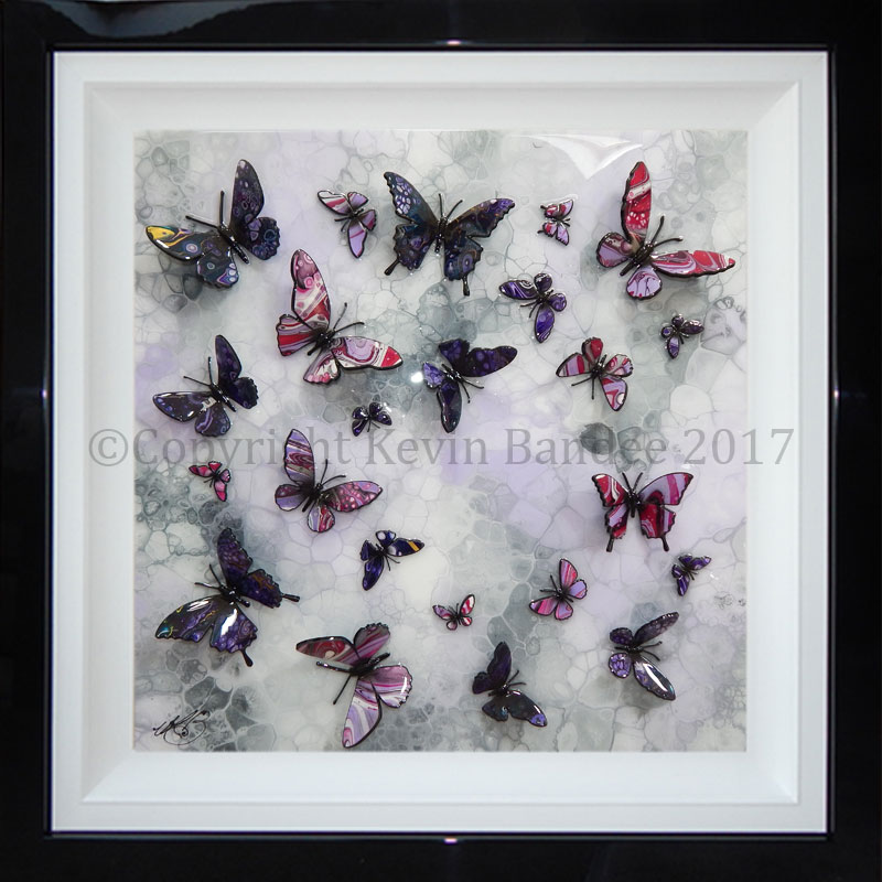 Lilac and purple butterfly art 3D