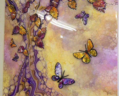 Boxed canvas 3D butterflies
