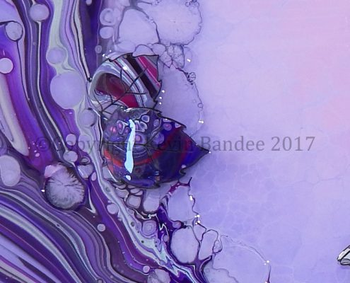 Pink and lilac and purple organic art