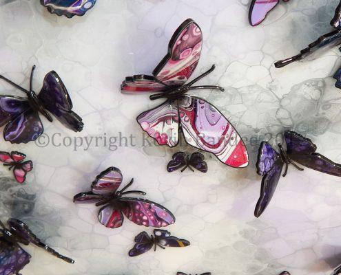 Purple stone butterfly art 3D