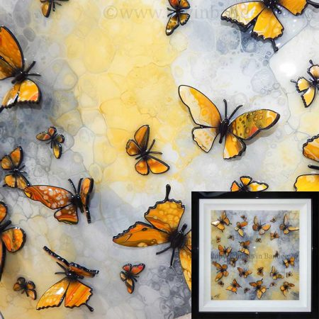 Yellow butterflies 3D art gallery