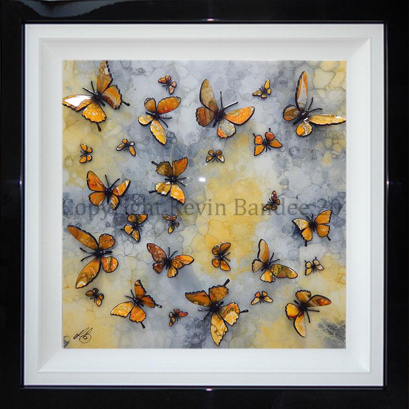 Yellow butterflies 3D art