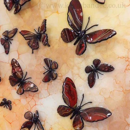 autumn brown yellow 3d butterfly art