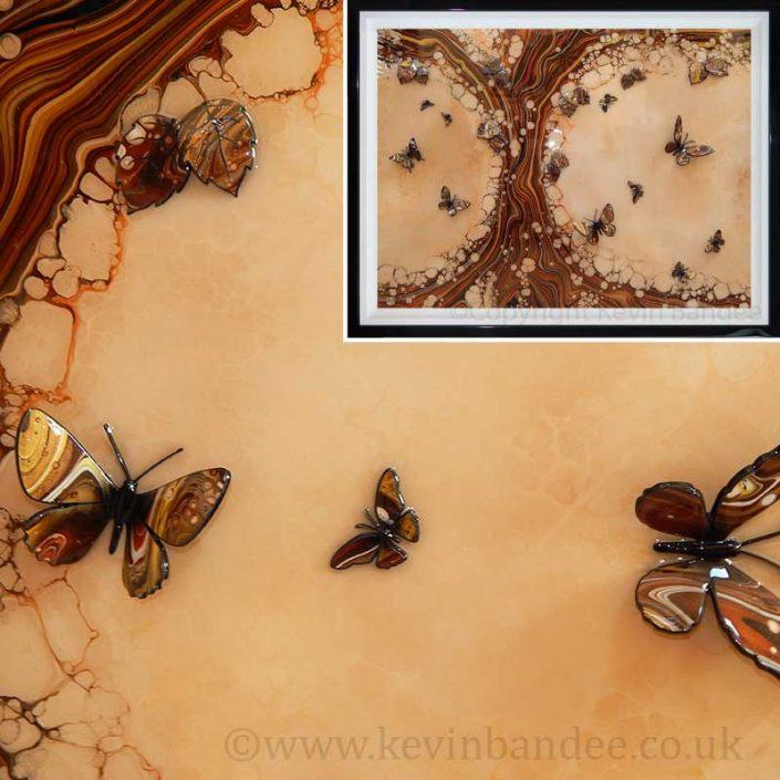 autumn coloured butterflies framed gallery