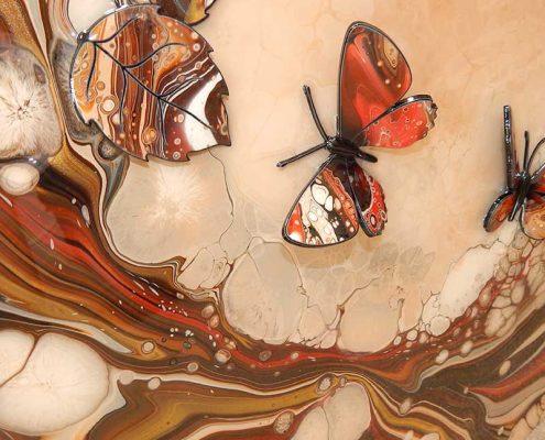 brown red organic butterflies