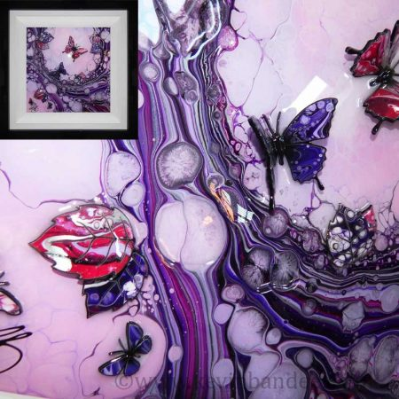 butterfly art with purple pink colours 3d