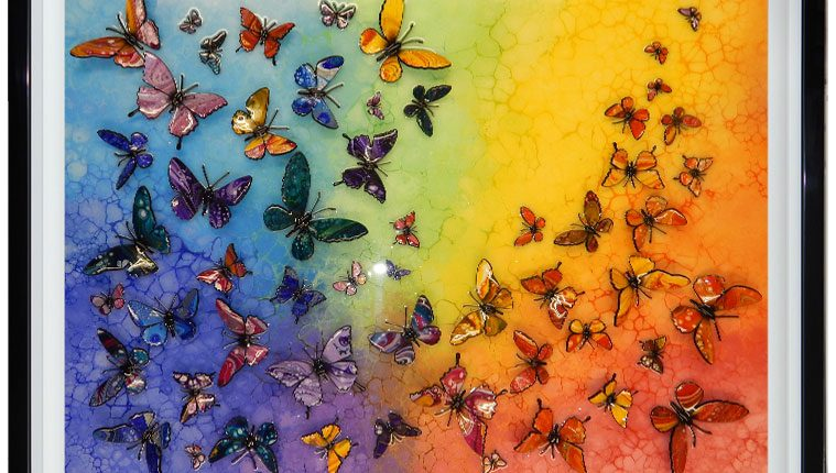 butterfly rainbow 3D artwork