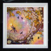 fluctus multi coloured framed