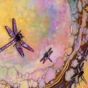 dragonfly art fluctus multi coloured side view