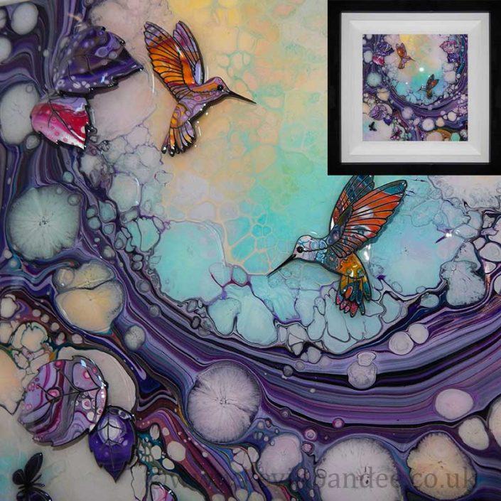 framed small hummingbird 3d art gallery