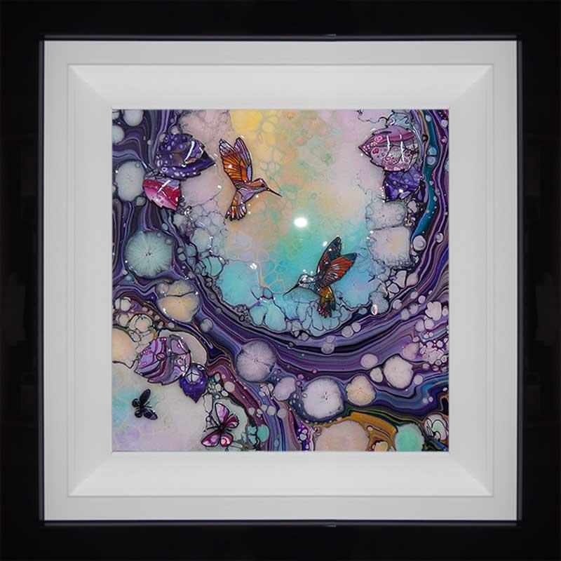 framed small hummingbird 3d art