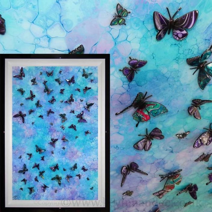 gallery view turquoise blue butterflies