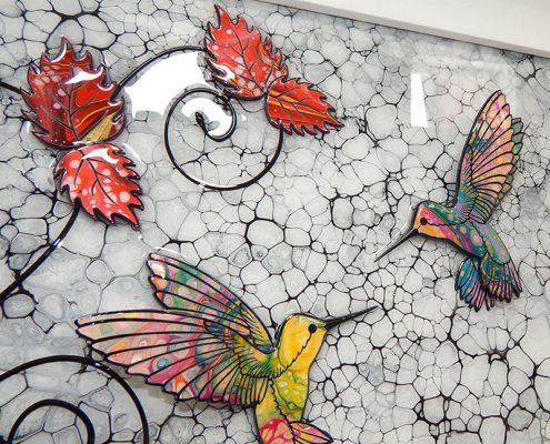 humming bird kiss 3D art