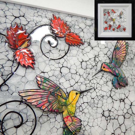 humming bird kiss 3D art gallery