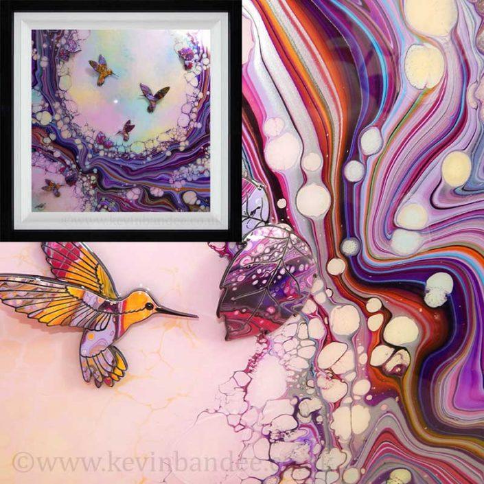 hummingbird 3d art framed gallery