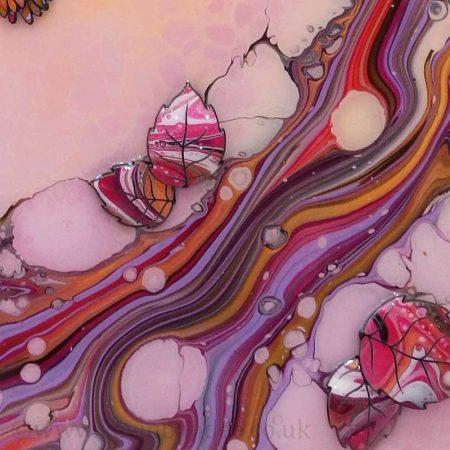 hummingbirds pink lilac 3d
