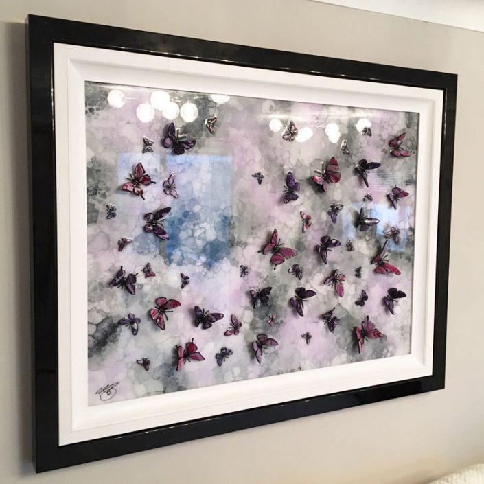 Purple Stone Butterfly Art