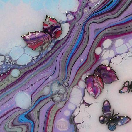 lilac pink blue 3d organic