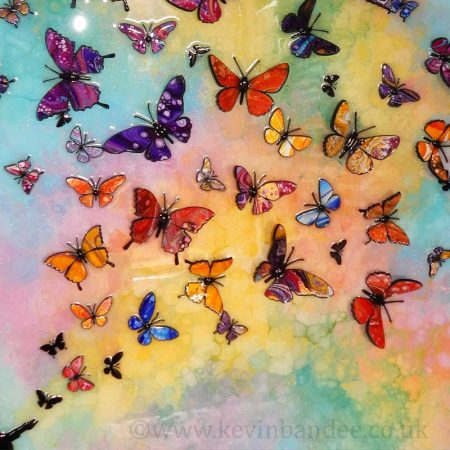 lots of colourful butterflies