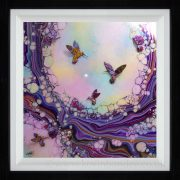 multi coloured organic hummingbird picture