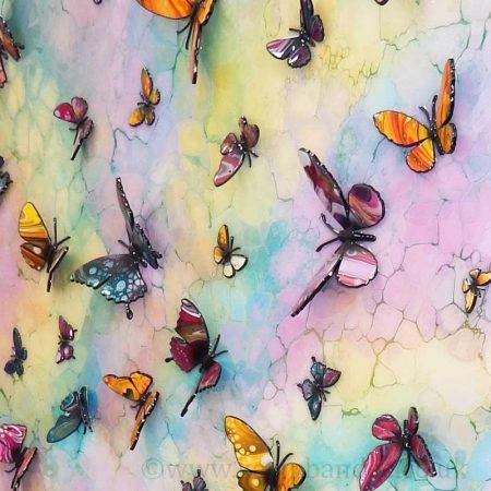 multicolour butterflies 2