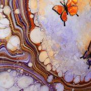 orange purple gold streaks detail 2