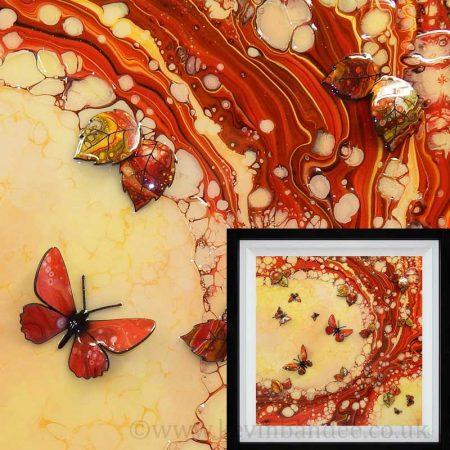 pastel 3d hummingbird art framed gallery