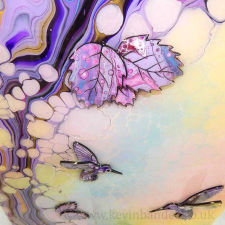 pastel leaves 3d