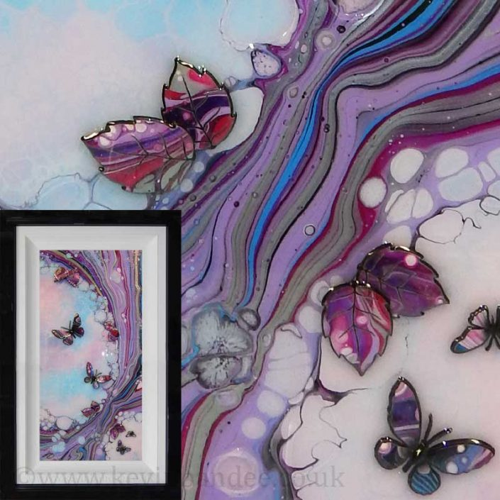 pink lilac blue butterfly framed art gallery