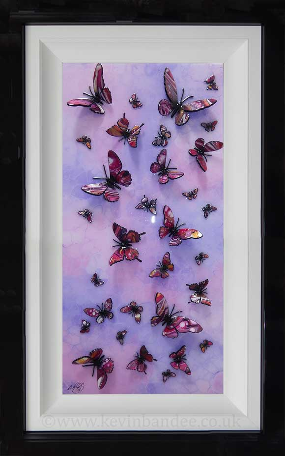 pink purple multi butterfly tall