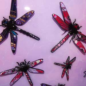 pink purple painted dragonfly example