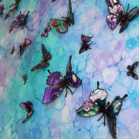 purple turquoise butterflies