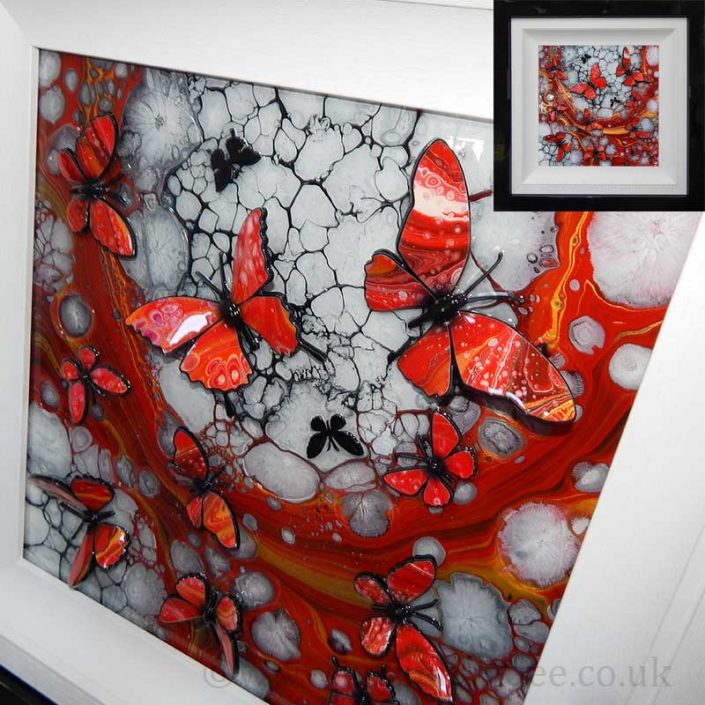 red and gold butterflies 3d gallery