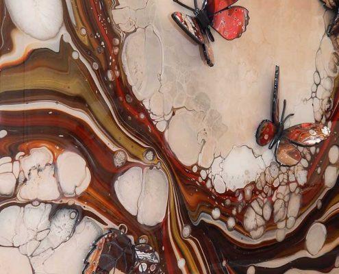 red brown organic butterflies