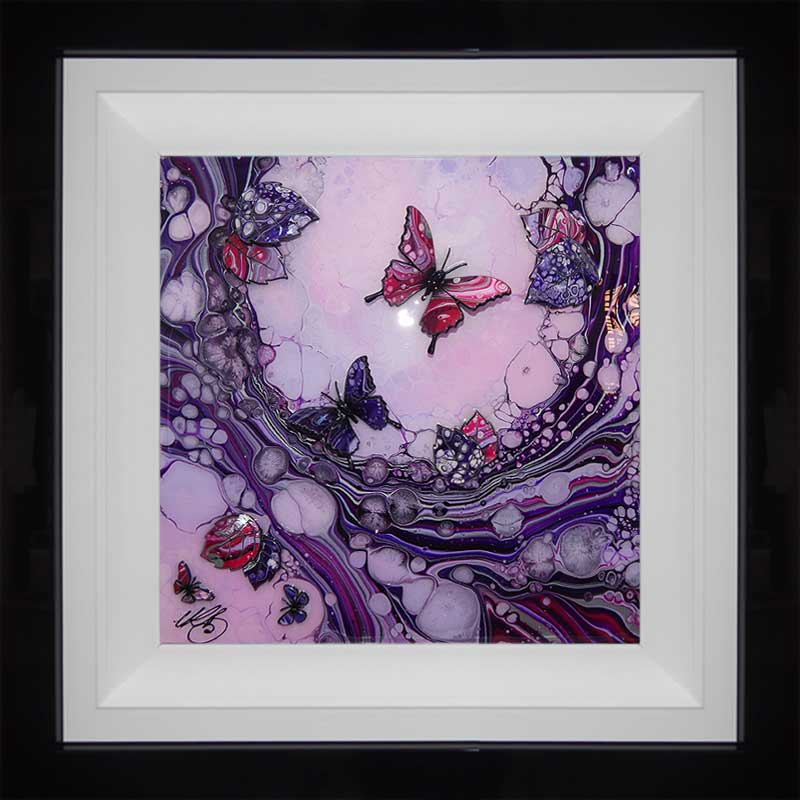 small purple lilac butterfly art