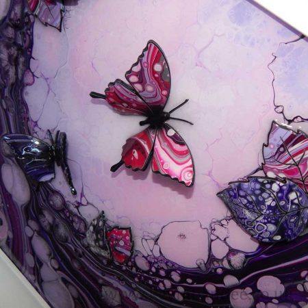 small purple lilac butterfly close up