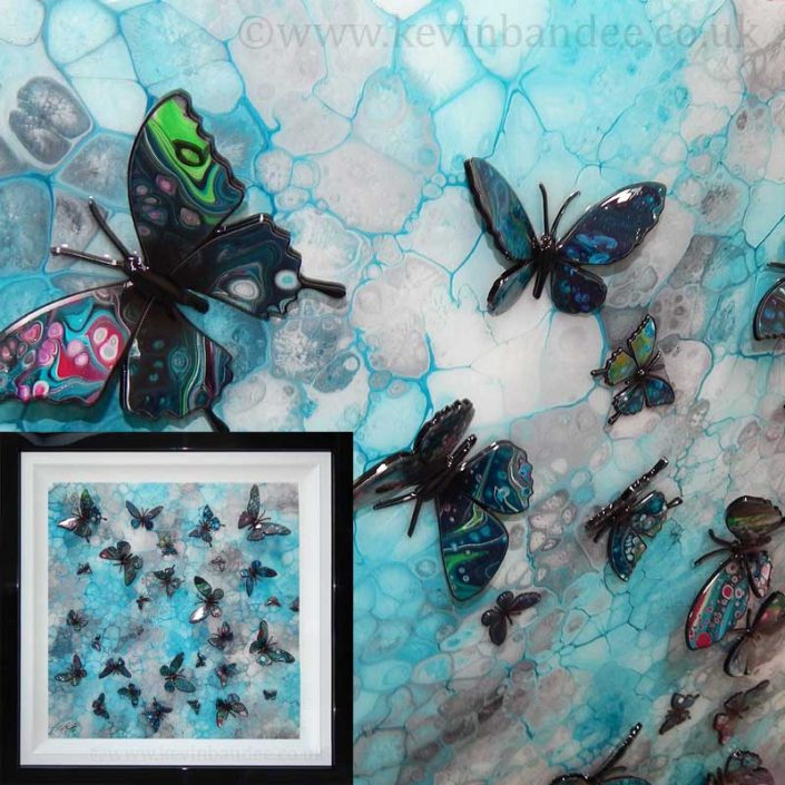 turquoise 3d butterfly art gallery
