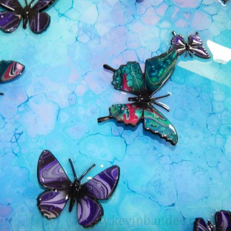 turquoise butterfly 3d