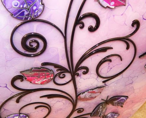 close up view butterfly art