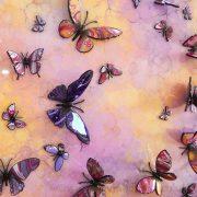yellow pink purple multi 3d butterfly