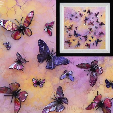 yellow pink purple multi butterfly gallery
