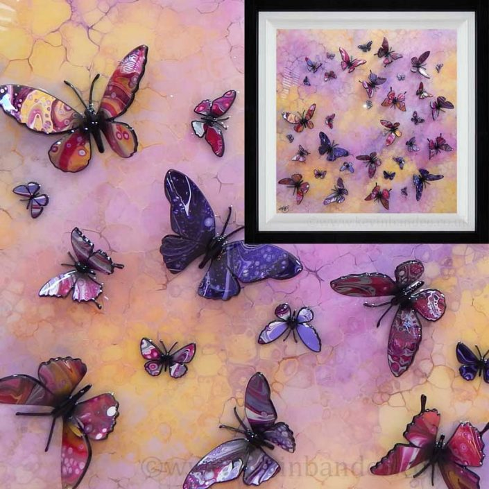 yellow pink purple multi butterfly gallery