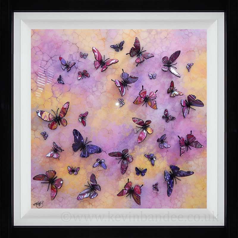 yellow pink purple multi butterfly