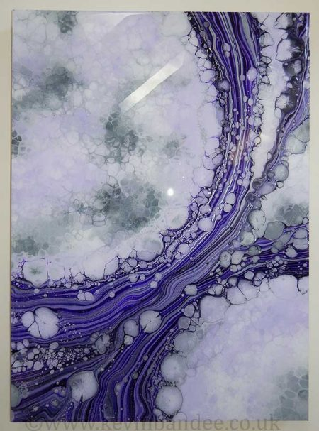 abstract purple art full view